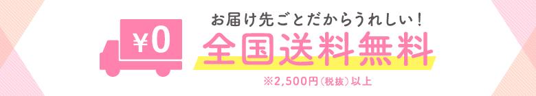お届け先ごとだからうれしい! 全国全品送料無料※2,500円(税抜)以上