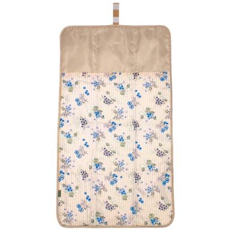 【SALE】アフタヌーンティー 丸洗いできる!ふっくらおむつ替えマット 花束×ストライプ たまひよSHOP