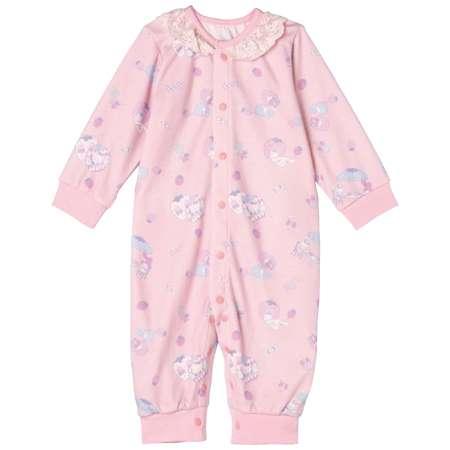 【SALE】サンリオキャラクターズ カバーオール型パジャマ ピンク たまひよSHOP