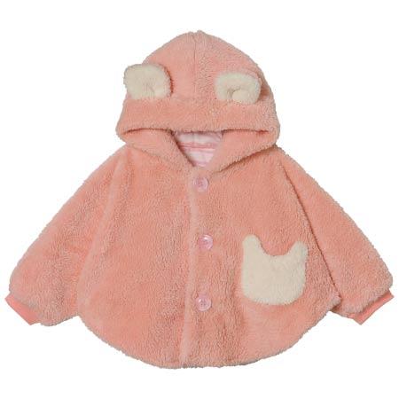 【SALE】もこもこ袖付きマント ピンク たまひよSHOP