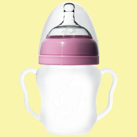 シリコン哺乳瓶Putti Atti(プティアティ) 260ml / ピンク たまひよSHOP