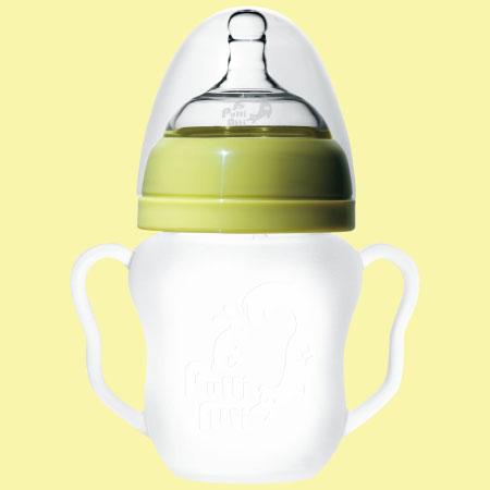 シリコン哺乳瓶Putti Atti(プティアティ) 260ml / グリーン たまひよSHOP
