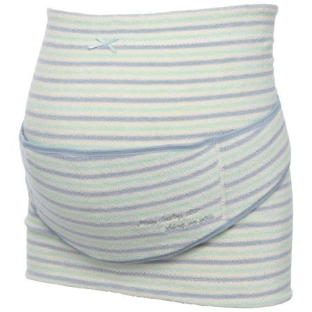 コルセット妊婦帯(補助腹帯つき) ボーダーサックス たまひよSHOP