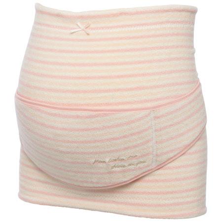 コルセット妊婦帯(補助腹帯つき) ボーダーピンク たまひよSHOP