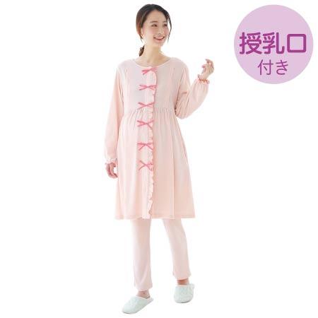 sweet nightie リボン飾りナイティ コーラル たまひよSHOP