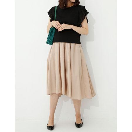Petit Coccon 美脚フィッシュテールカラースカート ベージュ たまひよSHOP