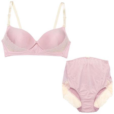 プレシャスなモールド授乳ノンワイヤー&ショーツ (マタニティ)ピンク たまひよSHOP