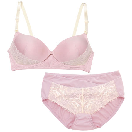 プレシャスなモールド授乳ノンワイヤー&ショーツ (産前産後)ピンク たまひよSHOP