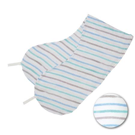 丸洗いで清潔!妊娠-授乳用お助け抱き枕(カバーのみ) 水彩ボーダー(透湿防水) たまひよSHOP