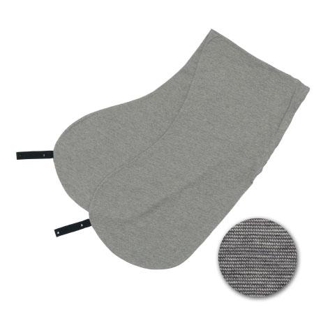丸洗いで清潔!妊娠~授乳用お助け抱き枕(カバーのみ) 杢グレー(オーガニック)
