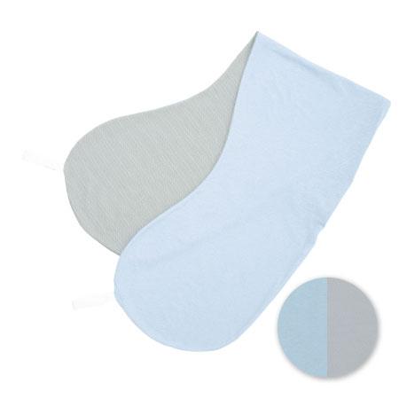 丸洗いで清潔!妊娠-授乳用お助け抱き枕(カバーのみ) ブルー&グレー(冷感×吸水速乾) たまひよSHOP