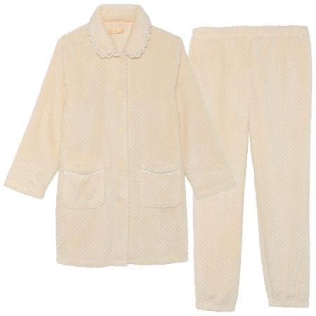 fairy 授乳しやすいあったかふわもこパジャマ オフホワイト たまひよSHOP