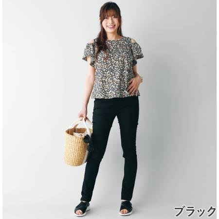Petit Cocoon 【マジックマミーボトムス】BABY SKIN美尻スキニーパンツ ブラック たまひよSHOP