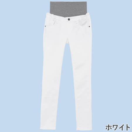Petit Cocoon 【マジックマミーボトムス】BABY SKIN美尻スキニーパンツ ホワイト