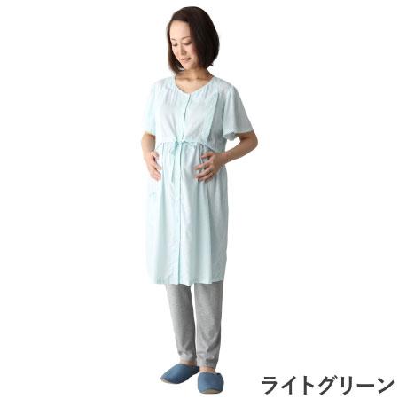 mutti ei 【接触冷感】授乳口つきランダムドットプリントパジャマ ライトグリーン たまひよSHOP