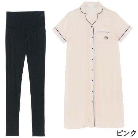 1枚でも着られるワンピースタイプと涼感パンツのセット