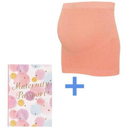 ファースト妊婦帯(ミルクム)+マタニティパスポート特別セット ピンク たまひよSHOP