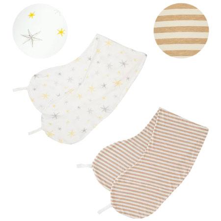 【送料無料】丸洗いで清潔!妊娠-授乳用お助け抱き枕カバー2枚組 スター×ボーダー(オーガニック) たまひよSHOP