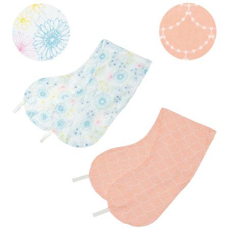 【送料無料】丸洗いで清潔!妊娠-授乳用お助け抱き枕カバー2枚組 カラフル×スカラップ(消臭抗菌) たまひよSHOP