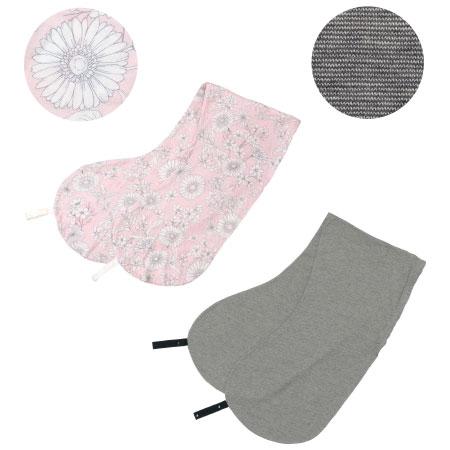 【送料無料】丸洗いで清潔!妊娠-授乳用お助け抱き枕カバー2枚組 ピンクグレー×オーガニック(杢グレー) たまひよSHOP