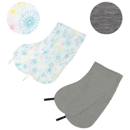 【送料無料】丸洗いで清潔!妊娠-授乳用お助け抱き枕カバー2枚組 カラフル×杢グレー(オーガニック) たまひよSHOP
