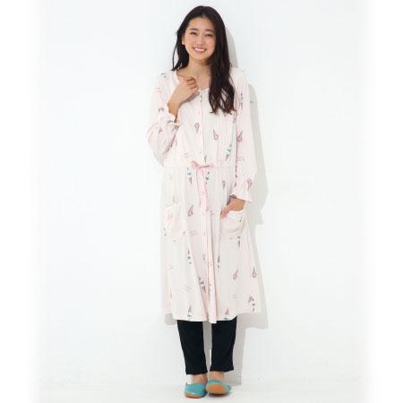 授乳口つきジェラート柄ワンピースパジャマ&パンツセット ピンク たまひよSHOP