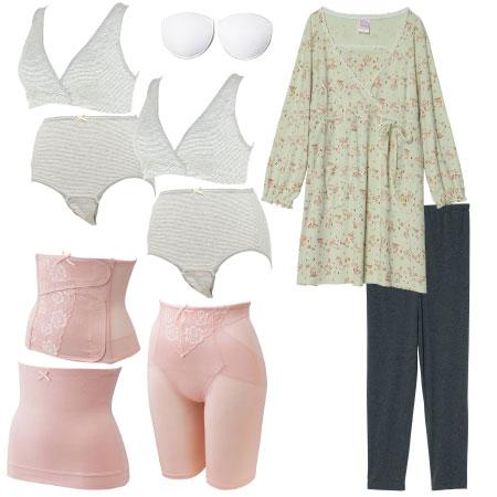 【送料無料】入院準備の基本セット(スーパープレミアム) 長袖×ピンク たまひよSHOP