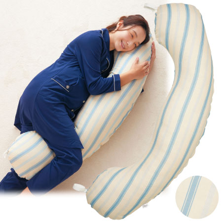 【送料無料】アーバンリサーチ ドアーズ 丸洗いで清潔!妊娠-授乳用お助け抱き枕 マルチストライプ たまひよSHOP