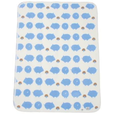 メイドインジャパン ふわふわ綿毛布 ぶたブルー たまひよSHOP