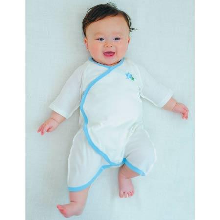 Baby Kurumii ワンタッチコンビ肌着 ブルー たまひよSHOP