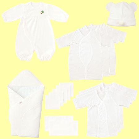 【送料無料】無撚糸パイル出産準備16点セット(日本製) ホワイト たまひよSHOP