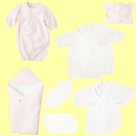 【送料無料】無撚糸パイル出産準備16点セット(日本製) ピンク たまひよSHOP