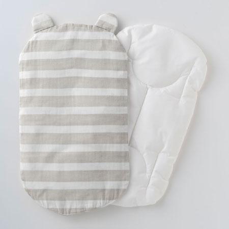 丸洗いできる!生まれてすぐから使う赤ちゃんの安心抱っこふとん(本体+カバー1枚) ボーダー たまひよSHOP