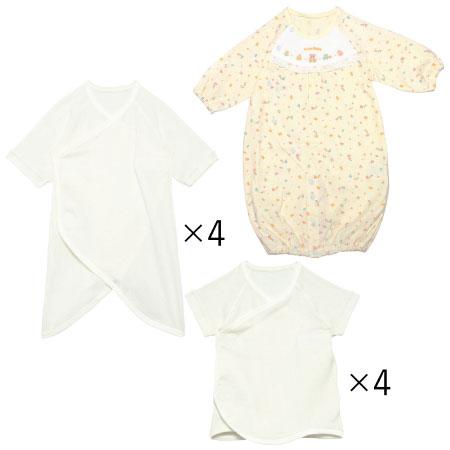 【送料無料】春生まれちゃんのためのドレスオール&肌着セット(日本製) ホワイト たまひよSHOP