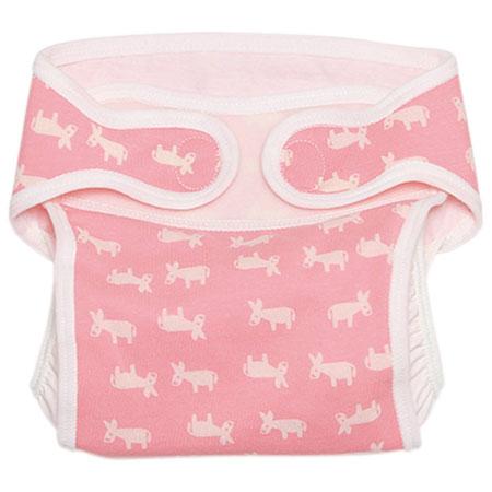 布おむつ(日本製) おむつカバー/ロバ柄ピンク たまひよSHOP