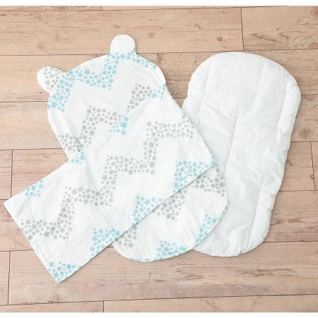 ケットでくるめて丸洗いできる!生まれてすぐから使う赤ちゃんの安心抱っこふとん(本体+カバー1枚) シェブロン たまひよSHOP