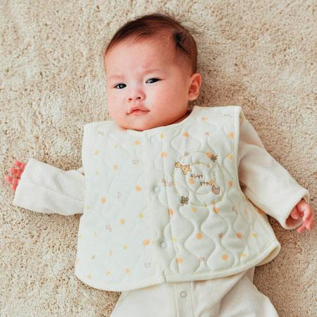 新生児用キルティングベスト クリーム たまひよSHOP
