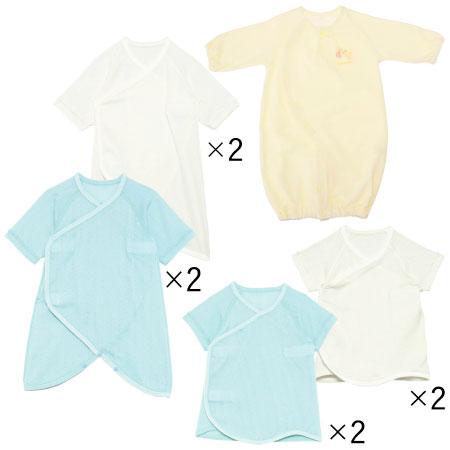 最低限必要な枚数をまとめてお届け。安心の日本製 「たまごクラブ」大人気企画「出産準備・育児グッズこれが必要!完全ガイド」から生まれた、冬生まれちゃんのためのオール日本製&綿100%のプレミアム肌着9点セット。 はじめてママの2大お悩み1「肌着が着せにくいとお着替えに時間がかかって大変!」、2「何を何枚着せたらいいの?」というお悩みを解決!「着せやすい肌着」&「必要最低限の枚数だけ」というこだわりの肌着セットです!冬生まれ赤ちゃんも快適に過ごせます。何を揃えればいいか迷ってしまうはじめてママ必見です!こちらはオール日本製のプレミアム9点セットです。 気温が安定しない季節は、温度の変化に合わせて重ね着ができるアイテムが欠かせません。短肌着4枚に加え、コンビ肌着4枚、更にドレスにもプレオールにもなるウエア1枚が付属。無撚糸パイルのやわらかな素材は保温性に優れ、冬はもちろん初春にも着られます。 〈ドレスオール〉 厚手の無撚糸パイルのウエアでばっちり防寒対策! 〈短肌着〉と〈コンビ肌着〉 たまひよオリジナル肌着の【ベビークルミイ】プレミアムワンタッチ短肌着。日本製&無撚糸のプレミアムモデルです。素材、縫製にこだわり、軽量でやわらかな肌触り。吸湿性にも優れているので、首回りなどの汗もしっかり吸います ◆肌着単品はこちら◆ Baby Kurumii プレミアムワンタッチ短肌着 Baby Kurumii プレミアムワンタッチコンビ肌着●サイズ(cm)/【ドレスオール】着丈51・身幅27・股下14・ゆき丈31 ●セット内容/合計9枚セット 【ホワイト】短・コンビ肌着ホワイト各4、ドレス