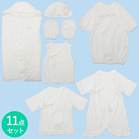 【送料無料】小さく生まれた赤ちゃんのための新生児ウエア11点セット ホワイト たまひよSHOP
