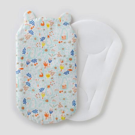 【送料無料】ムーミンベビー 【メッシュ素材】新生児から使える安心抱っこふとん(本体+カバー1枚) ブルーム たまひよSHOP
