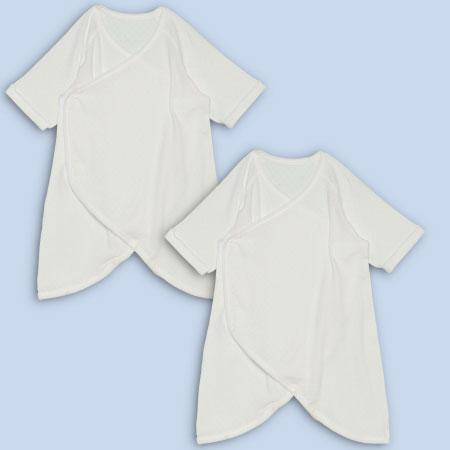 【ベビークルミイ】プレミアムワンタッチコンビ肌着2枚組 ホワイト たまひよSHOP