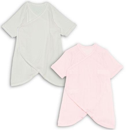 【ベビークルミイ】プレミアムワンタッチコンビ肌着2枚組 ピンク たまひよSHOP