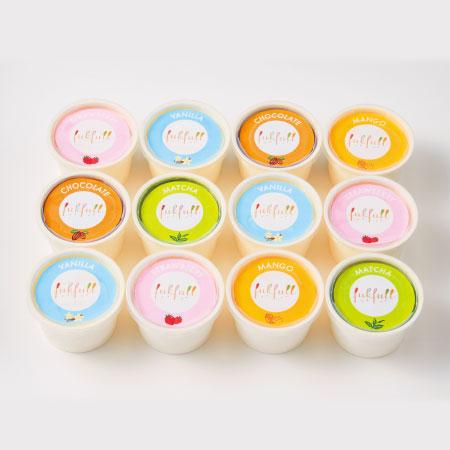 【送料無料】【期間限定】フクフル 北海道産生クリーム入りアイス12個 たまひよSHOP・たまひよの内祝い