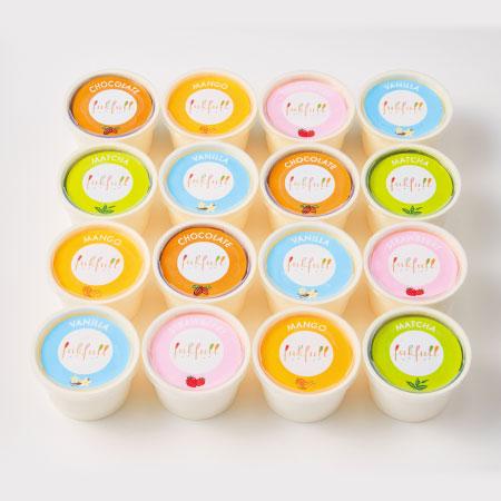 【送料無料】【期間限定】フクフル 北海道産生クリーム入りアイス16個 たまひよSHOP・たまひよの内祝い