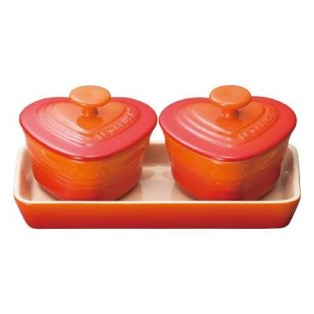 【送料無料】ル・クルーゼ プチ・ラムカン・ダムール・セット オレンジ たまひよSHOP・たまひよの内祝い