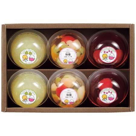 【送料無料】たかはた果樹園 たまひよ名入れフルーツゼリー詰合せ6個 たまひよSHOP・たまひよの内祝い