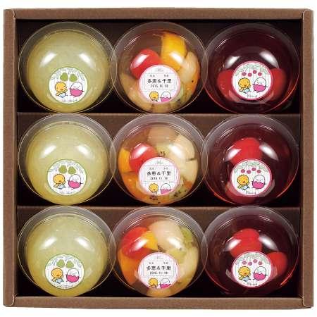【送料無料】たかはた果樹園 たまひよ名入れフルーツゼリー詰合せ9個 たまひよSHOP・たまひよの内祝い