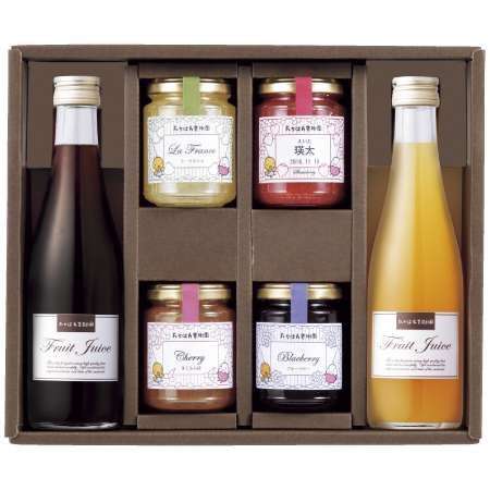 【送料無料】たかはた果樹園 たまひよ名入れ ジャムとジュースのセットC たまひよSHOP・たまひよの内祝い