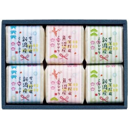 【送料無料】吉兆楽 新潟のお米食べ比べセット6個 たまひよSHOP・たまひよの内祝い