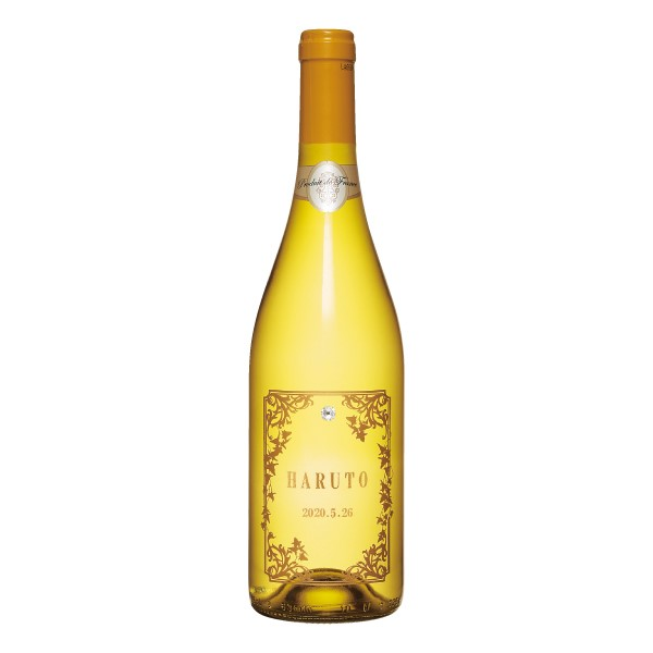【送料無料】名入れ(アルファベット)エッチングボトルワイン シンフォニー 白 たまひよSHOP・たまひよの内祝い